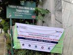 Kegiatan Peziarah Ditutup Sementara, TPU Tanah Kusir Sepi
