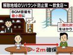Suara Background Music di Dalam Toko Makanan Ikut Pengaruhi Penyebaran Infeksi Covid-19 di Jepang