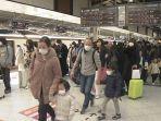Arus Balik Warga Jepang Kembali ke Kota Besar Capai 160 Persen dari Kapasitas Shinkansen
