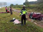 Dua Tewas di Tol Lampung Usai Mobil Fortuner Pecah Ban Lalu Tabrak Bagian Belakang Truk Fuso