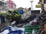 Truk Seruduk Pengendara Motor di Dekat Pasar Kertek Wonosobo, 2 Orang Tewas