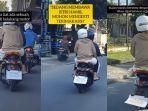 Bonceng Istri yang Sedang Hamil, Pria Ini Pasang Tulisan di Motor Agar Pengendara Lain Lebih Sabar