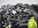 BERITA FOTO: Tabrakan Beruntun 130 Mobil di Texas, Sejumlah Orang Tewas