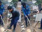 Warga Heboh, Sanca 2 Meter Masuk Kamar Mandi Proyek di Denpasar