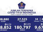 Update Covid-19 di Indonesia 21 September: 248.852 Positif, 180.797 Sembuh, dan 9.677 Meninggal