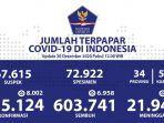 Update Persebaran Corona di 34 Provinsi: Jakarta Bertambah 2.053 dan Jabar 1.233 Kasus Baru