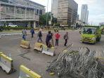 Massa Aksi Kedubes Prancis Membubarkan Diri, Akses Jalan Thamrin Dibuka Kembali