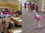 Video Pengunjung Panik, Demo Warga dan Ormas Ricuh Merangsek Masuk ke Grand Mall Batangase