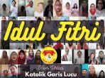 Viral Video Paduan Suara Online Nyanyikan Lagu Selamat Lebaran, Dipersembahan oleh 95 Umat Katolik