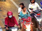 VIDEO Viral Wanita Makan saat Naik Motor, Diingatkan Petugas: Loh Mbak, Malah Terobos Lampu Merah