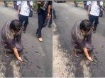 Viral Video Anggota DPRD Muaraenim Cukil Aspal Pakai Tangan, Geram Proyek Dikerjakan Asal-asalan