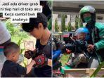 VIRAL Cerita Driver Ojol Bekerja Sambil Bawa Anak, Mengaku Senang hingga Bingung Kala Anak Tertidur