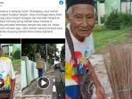 Sudah Renta tetap Bekerja, Kakek Penjual Sapu Lidi Jadi Korban Copet, Sehari-hari Tidur di Pasar