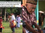 VIRAL Video Kakek Sholat Id Pakai Seragam SMA, Pengunggah Sempat Ajak Makan Bersama, Begini Kisahnya