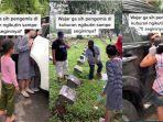 Aksi Pengemis Anak Ikuti Peziarah sampai Gedor Mobil, Pengunggah: Tiba-tiba Mau Ikut Naik Mobil
