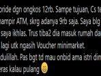 Viral Kisah Driver Ojol Dibayar Pakai Voucher Minimarket Rp 100 Ribu karena Uang Penumpang Kurang