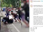 VIRAL Video Aksi Heroik Polisi Coba Amankan Pria Bersenjata yang Hendak Serang Warga di Banjarmasin