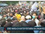 Aksi Unjuk Rasa Berlangsung Ricuh, Warga Tuntut Janji Ganti Rugi Pertamina Balongan, Indramayu
