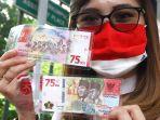 Dengan 1 KTP, Masyarakat Kini Bisa Dapatkan 100 Lembar Uang Baru Rp 75.000