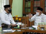 Temui Pimpinan Pesantren Daarul Rahman KH Syukron Ma'mun, Menag Diminta Perhatikan Kiai Kampung