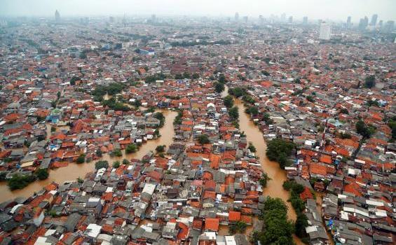 Foto Pantauan Banjir Di Jakarta Dari Udara Tribunnews Com Mobile