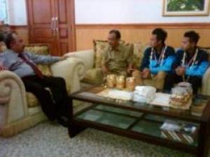 Yama dan Muchlis Punggawa Timnas U-19 Kebanggaan Mojokerto