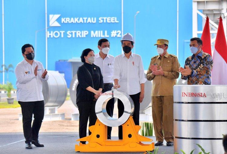 Presiden Jokowi Resmikan Hot Strip Mill 2 PT Krakatau Steel