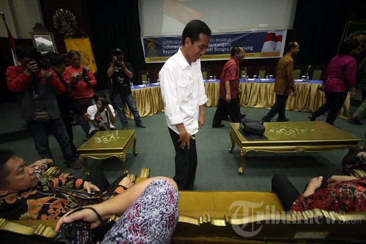 Megawati dan Jokowi Hadiri Seminar Dewan Guru Besar UI