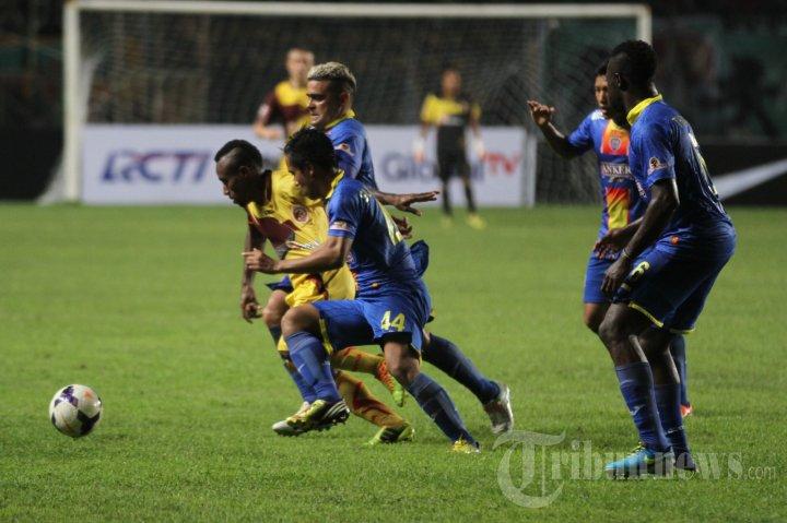 Sriwijaya FC Dibungkam Arema Cronus 0-2 Laga ISL
