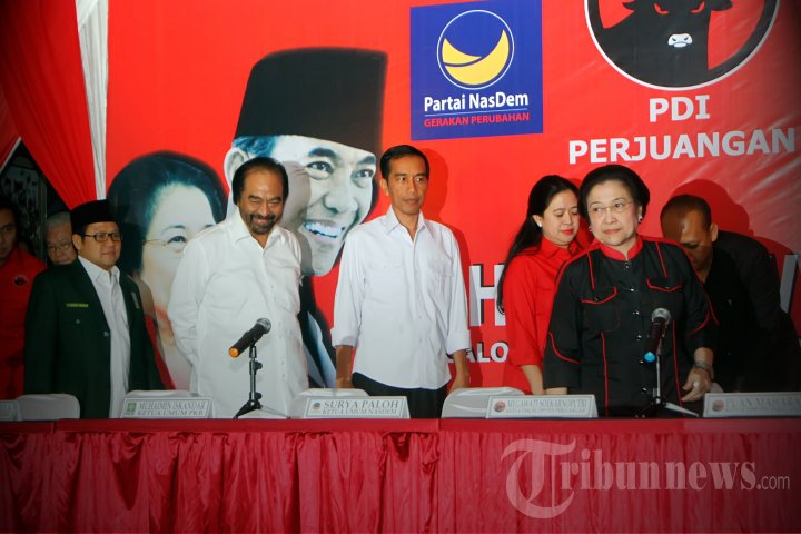 Deklarasi Koalisi PDIP dengan PKB dan Nasdem