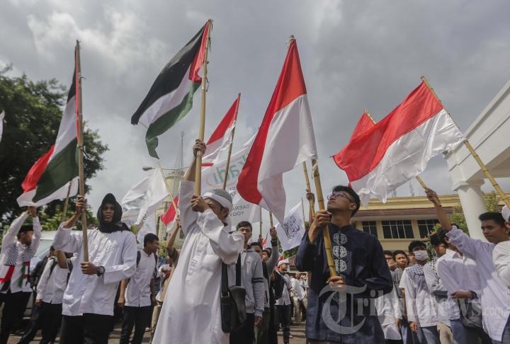 Aksi Masyarakat Muslim Yogyakarta Mendukung Palestina