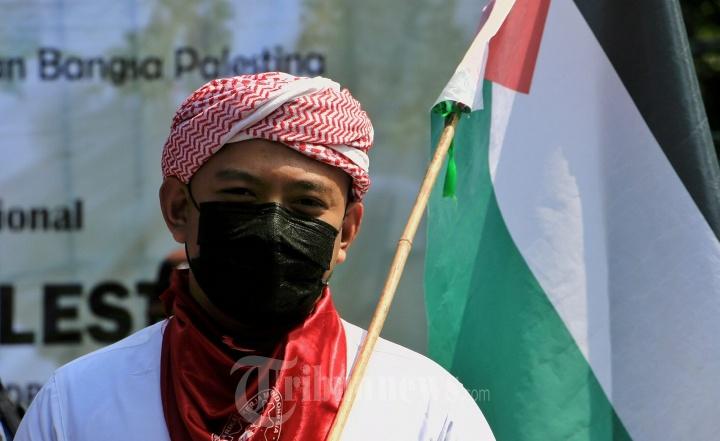 Aksi Solidaritas KSPI Jateng Peduli Palestina