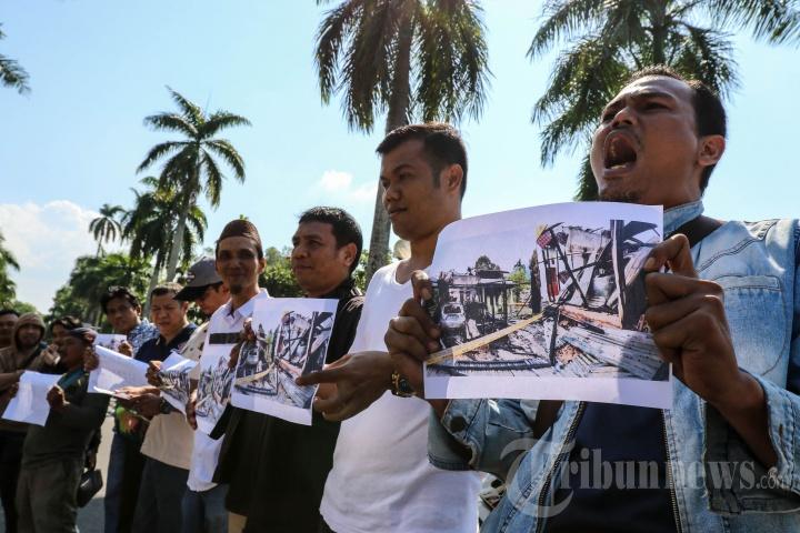 Aksi Solidaritas Wartawan di Pangkalpinang
