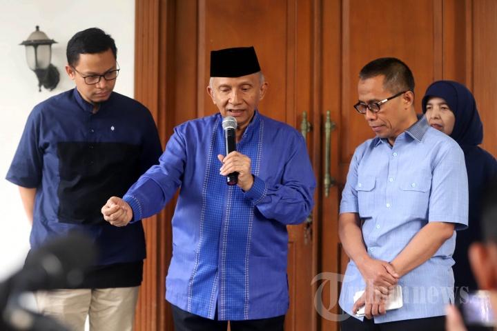 Amien Rais Gelar Konpers Terkait Pertemuan Prabowo-Jokowi