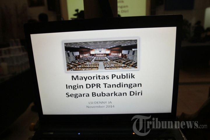 DPR Tandingan Harus Membubarkan Diri