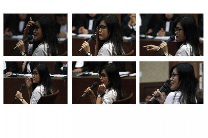 Ekspresi Jessica Saat Diperiksa Hakim