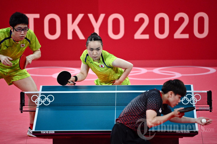 Ganda Campuran Jepang Maju ke Final Tenis Meja Olimpiade Tokyo 2020