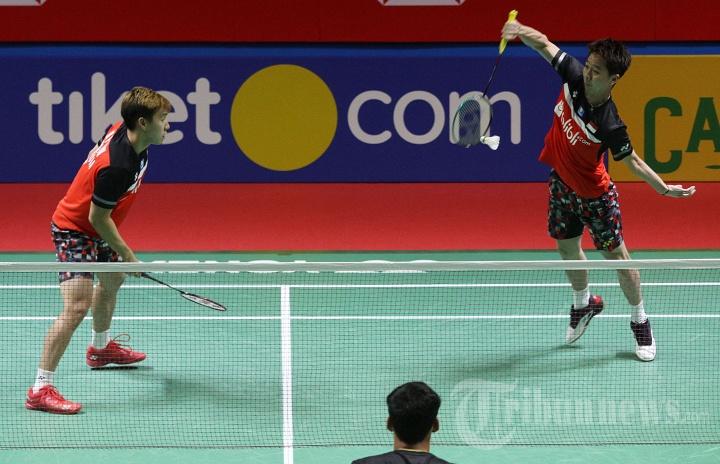 Indonesia Open 2019: Marcus Gideon/Kevin Sanjaya Menang Mudah