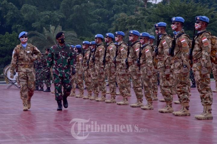 Kontingen Garuda TNI Siap mengemban Misi Negara di Afrika Tengah