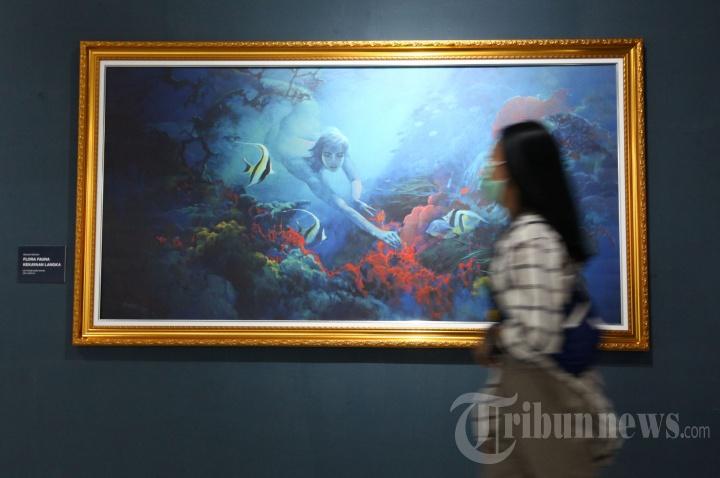Lukisan Basoeki Abdullah Dipamerkan di Galeri Taman Budaya Jawa Barat