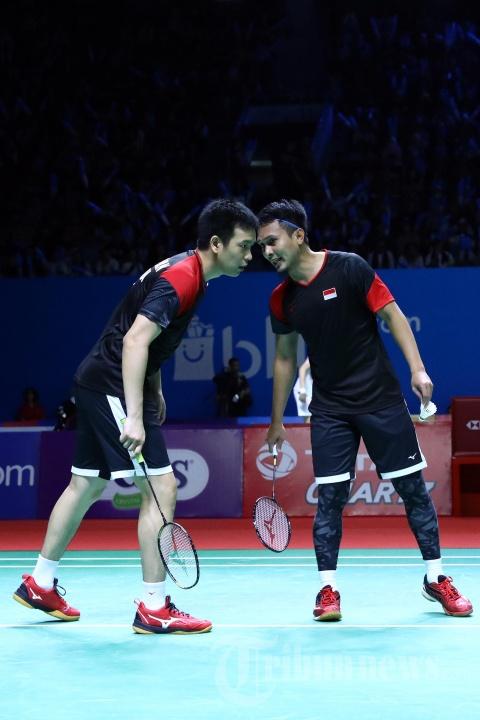 Mohammad Ahsan/Hendra Setiawan Lolos ke Semifinal