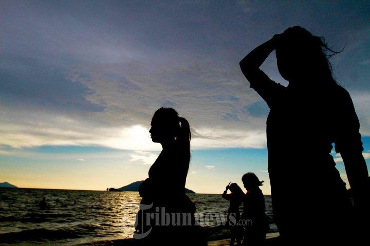 Obyek Wisata Pantai Mimi Land Singkawang Ramai Pengunjung