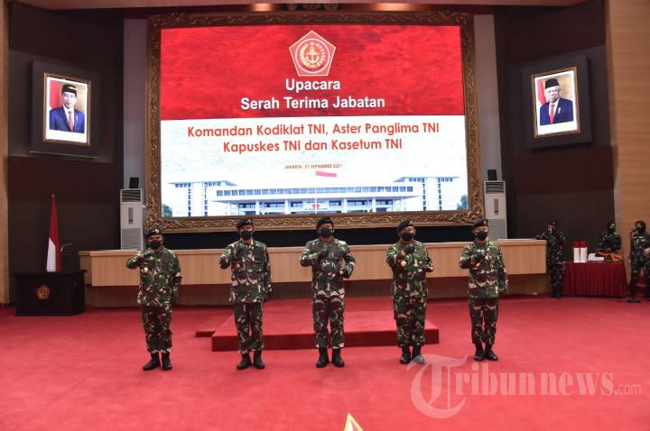 Panglima TNI Sertijab Dankodiklat, Aster, Kapuskes dan Kasetum