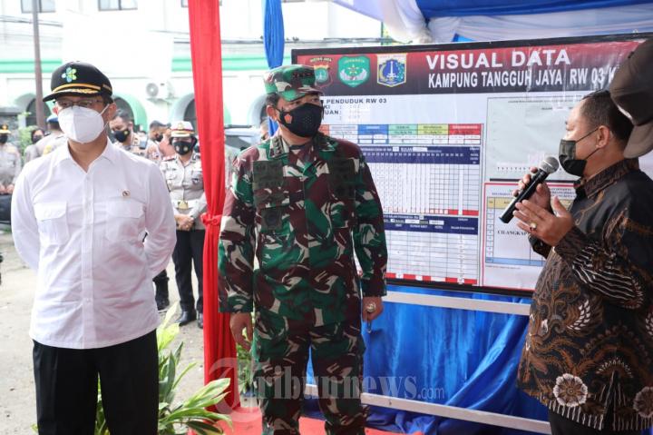 Panglima TNI Sidak Ke Posko PPKM RW 03 Kelurahan Cilangkap