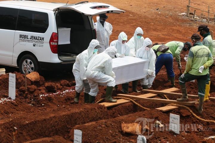 Pemakaman Protap Covid-19 di TPU Pondok Ranggon