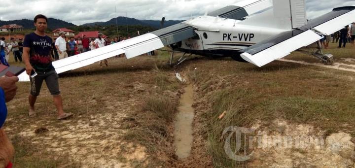 Pesawat Susi Air Tergelincir di Nunukan