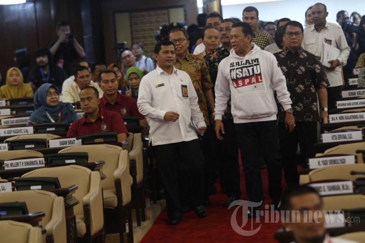 Pimpinan MPR Ikuti Gladi Bersih Pelantikan Presiden