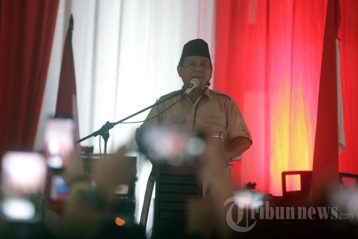 Prabowo Subianto Sapa Pendukungnya di Jogja