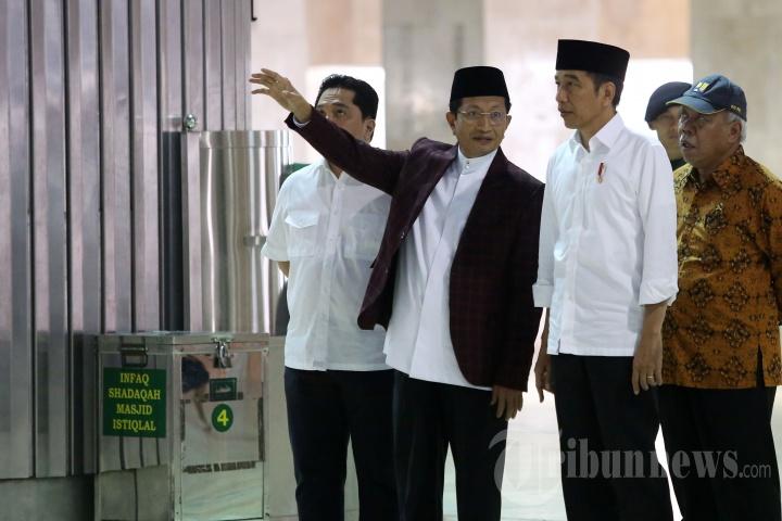 Presiden Tinjau Pembersihan Masjid Istiqlal