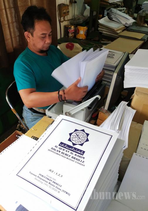 Produksi Alquran Braille di Kota Bandung